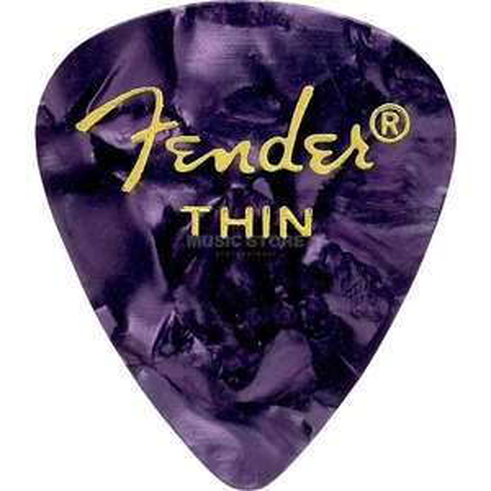 Lot de 12 médiators Fender Thin Purple Moto