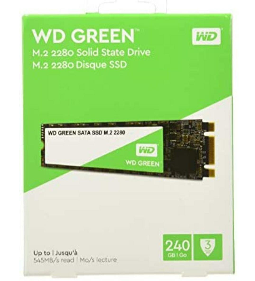 SSD Interne M.2 Western Digital WD Green - 240 Go