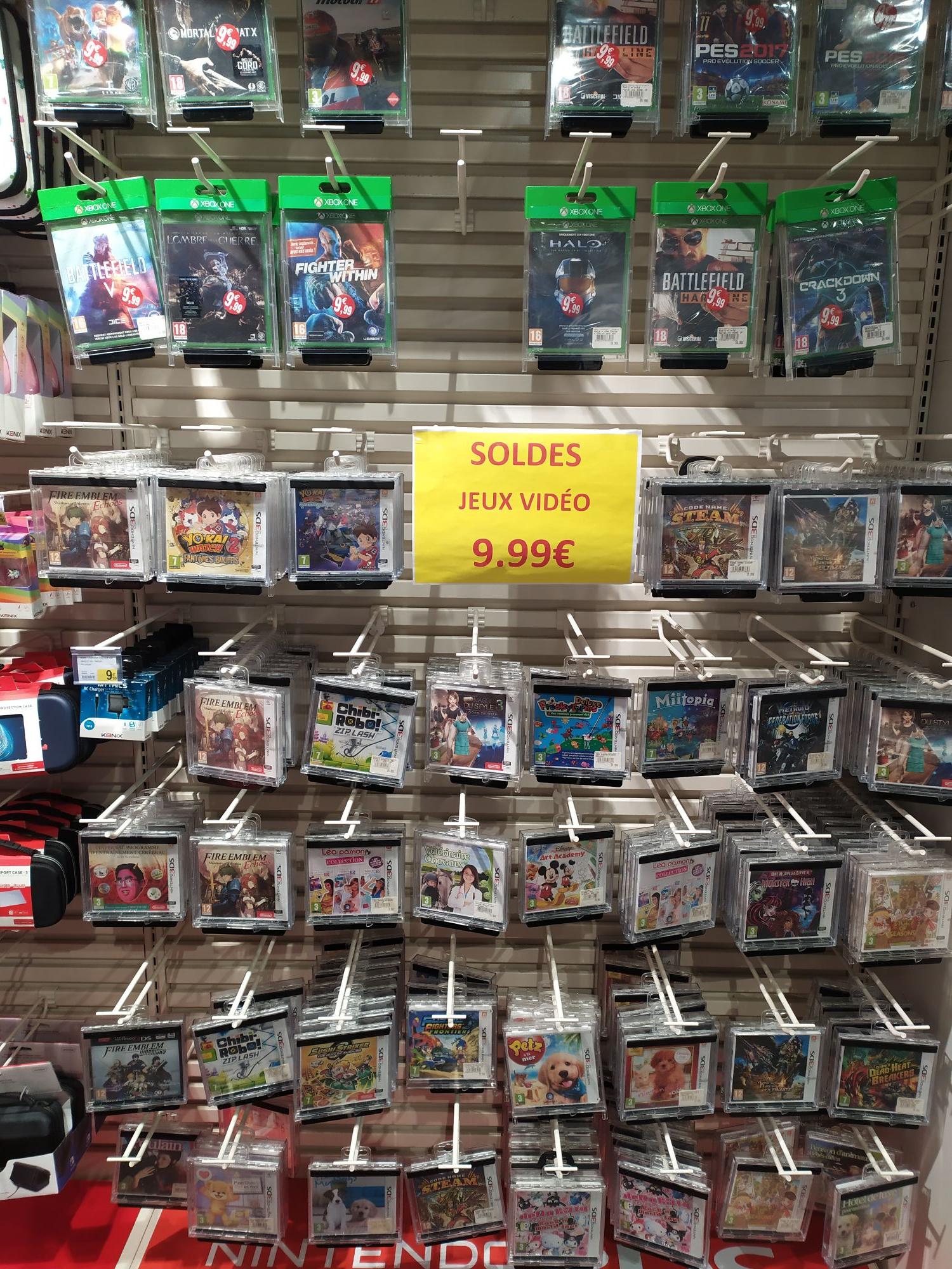 Large sélection de jeux vidéos à 9.99€ sur Xbox One & Nintendo 3DS - Vitry-sur-Seine (94)