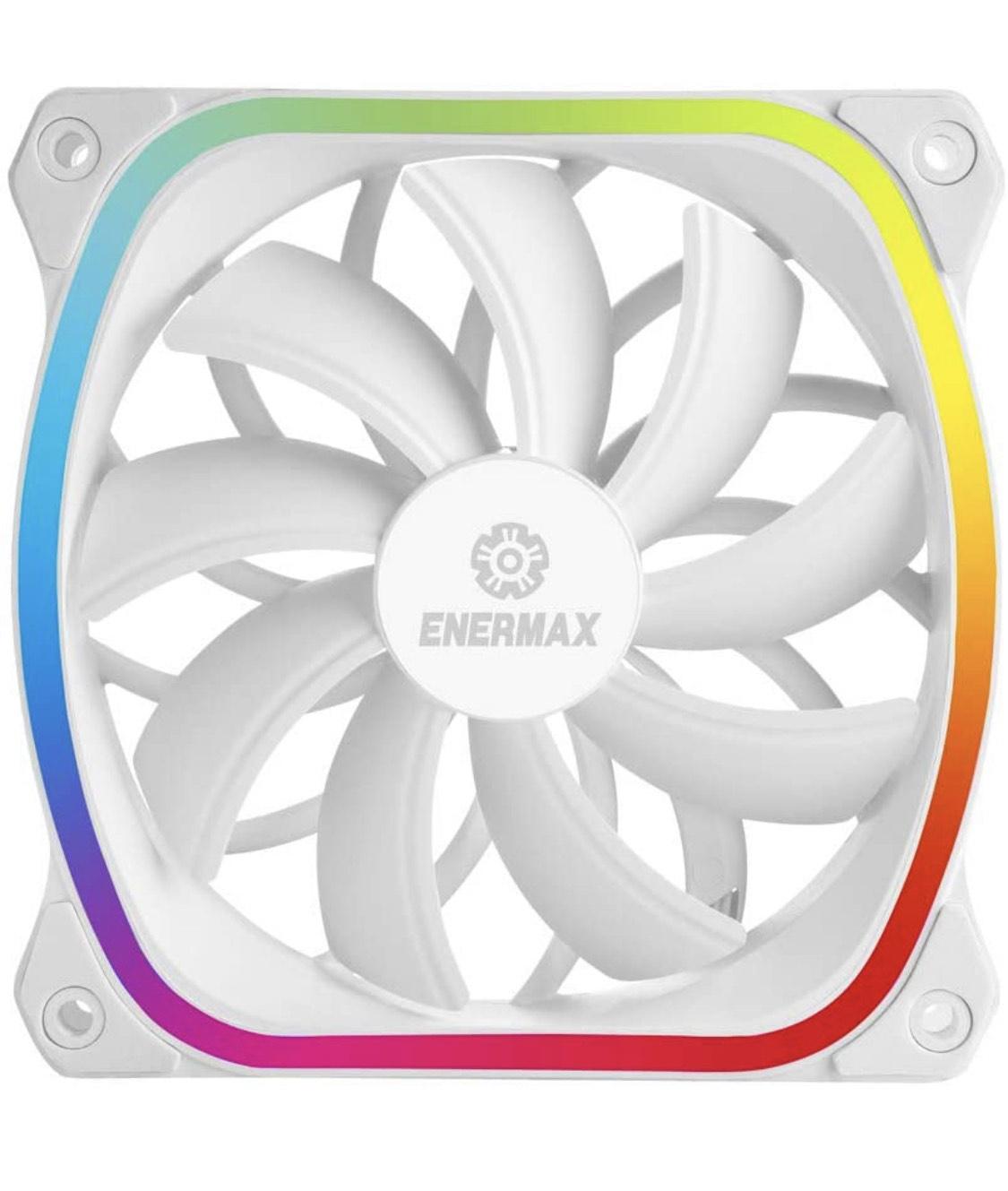 Ventilateur de Boîtier PC adressable Enermax Squa RGB White - 120mm