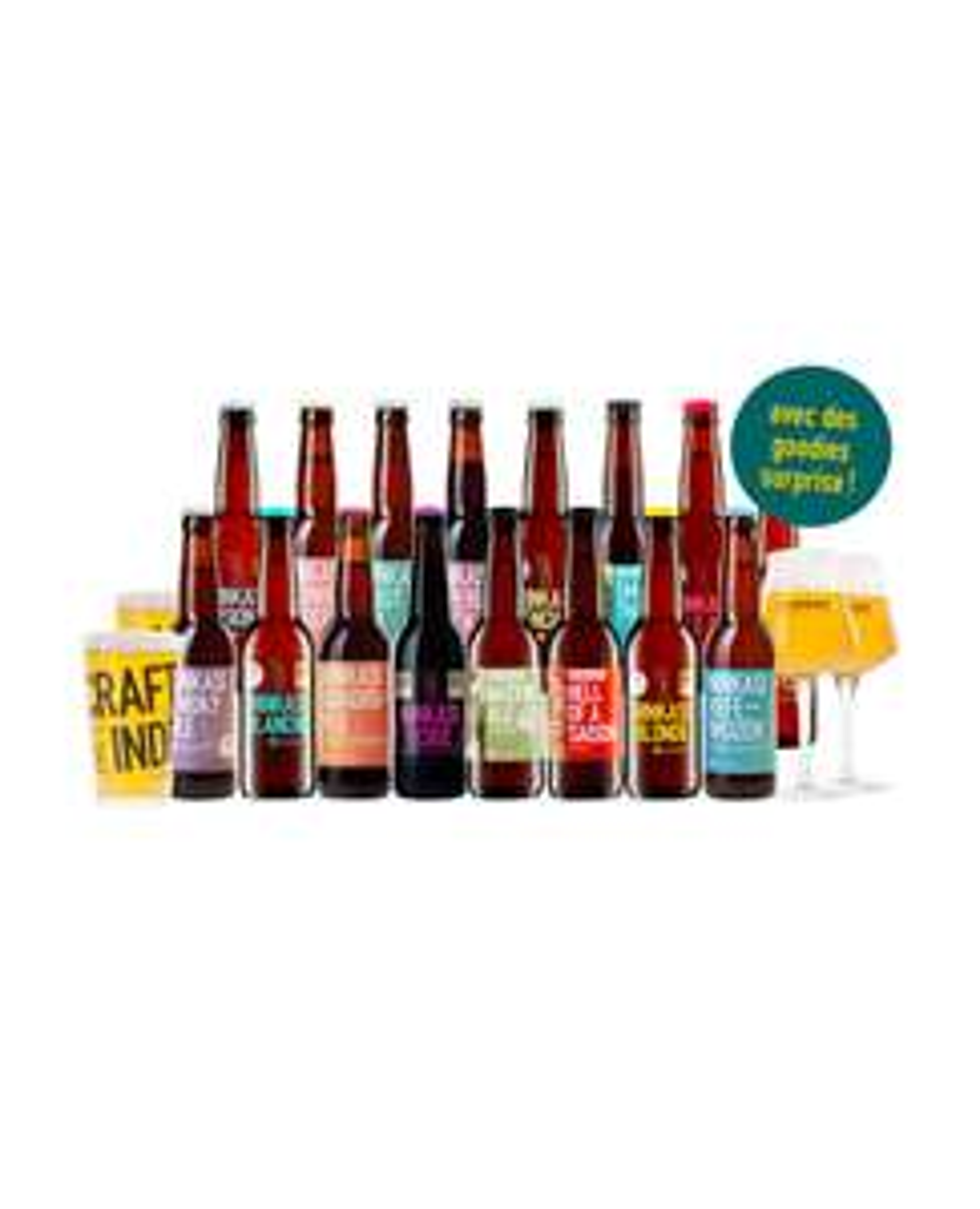 Pack survie - 16 bières + 4 verres + goodies - ninkasi.fr