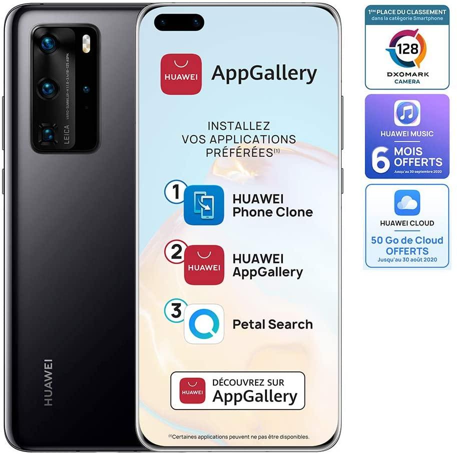 """Smartphone 6.58"""" Huawei P40 Pro 5G - 8 Go de Ram, 256 Go (Sans services Google)"""