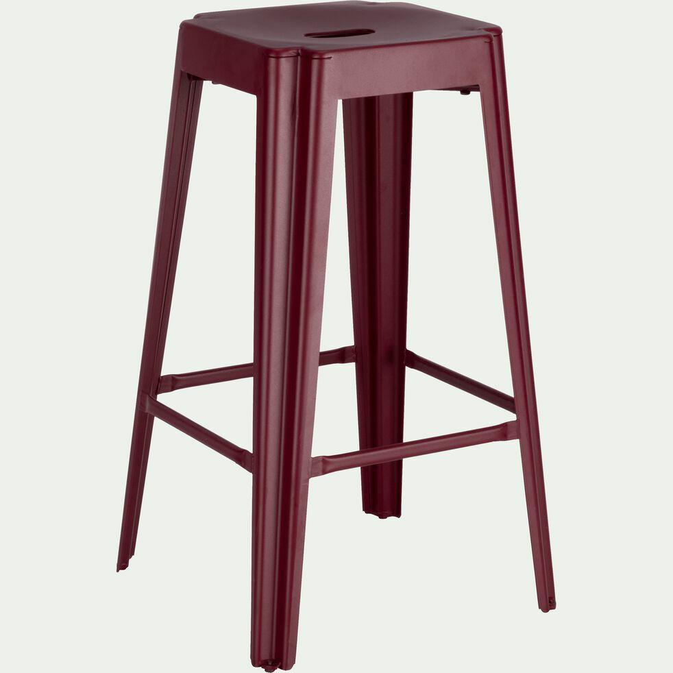 Tabouret de bar en métal rouge sumac - 69 cm