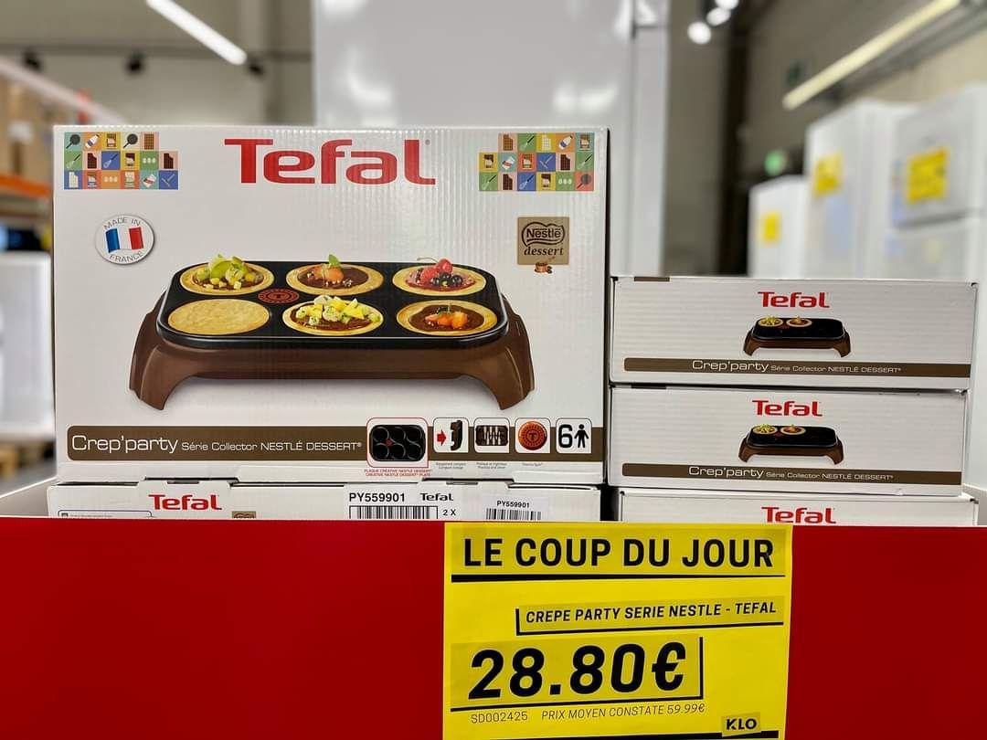 Crêpièreélectrique Tefal Crep'Party py559901 - Série Nestle Dessert - KLO Claira (66)