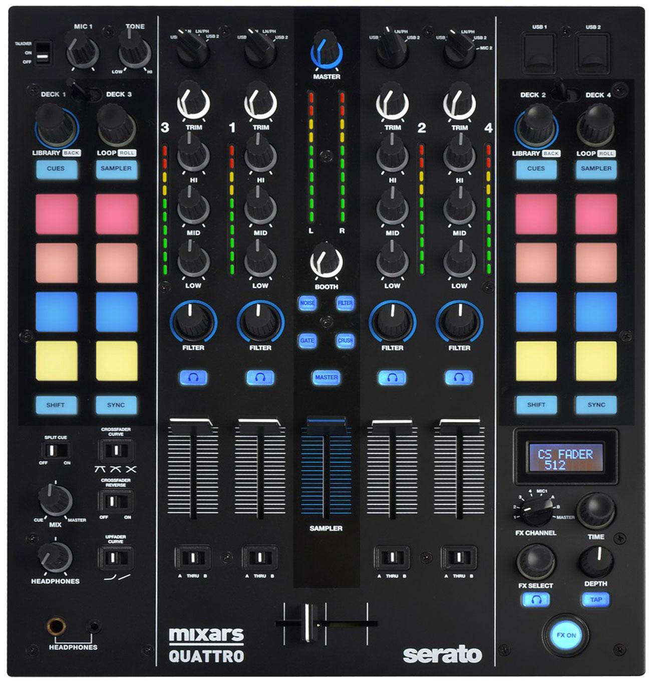 Table de mixage DJ Mixars Quattro avec Serato Pro (recordcase.de)