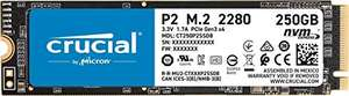 SSD interne M.2 NVMe Crucial P2 - 250 Go