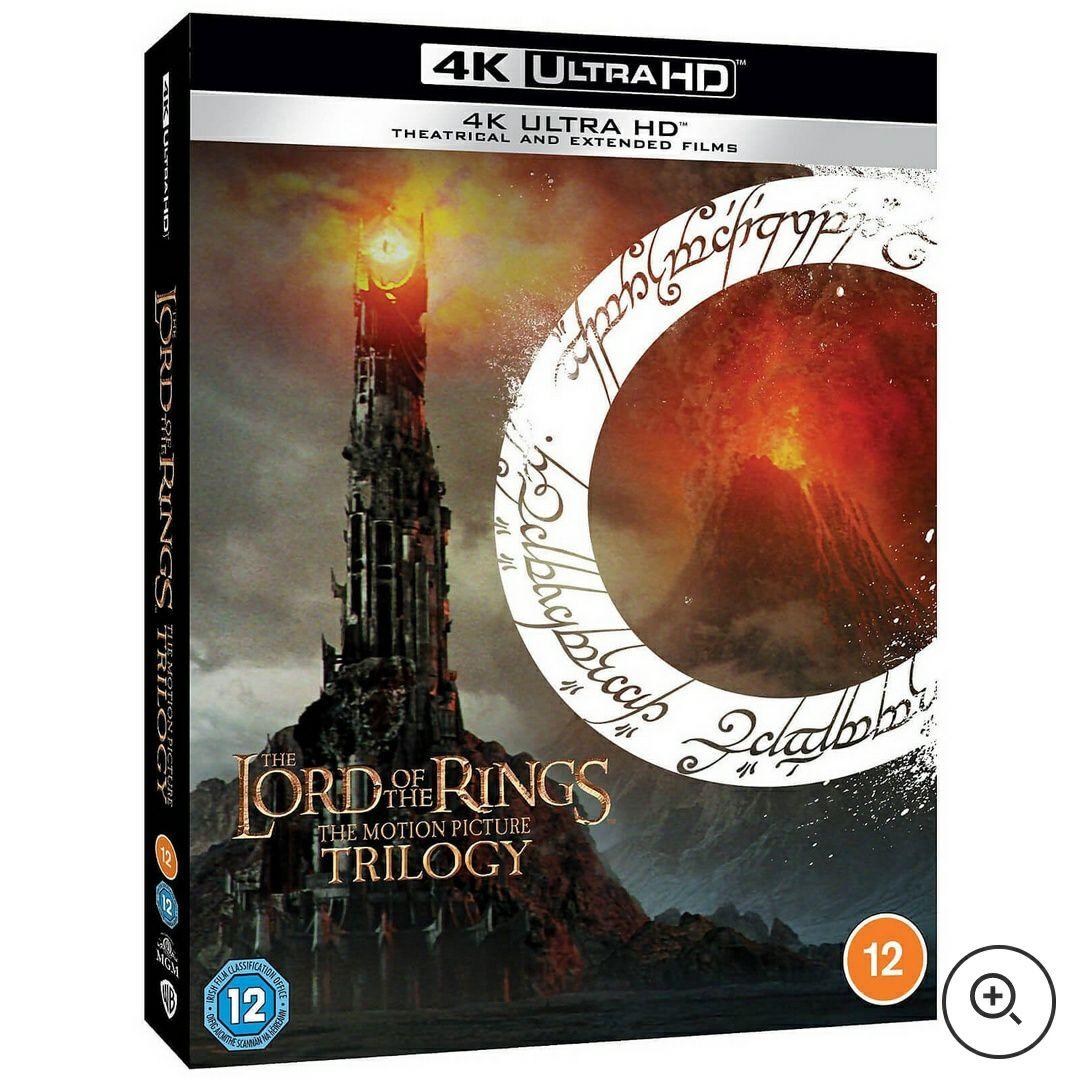 Coffret Blu-Ray 4K UHD - La Trilogie Seigneur des Anneaux (version cinéma + longue)