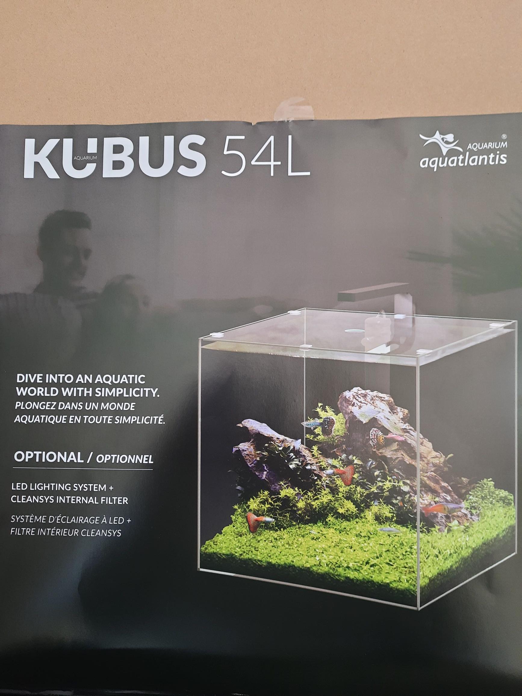 Aquarium Cubique 54L Aquatlantis Kubus