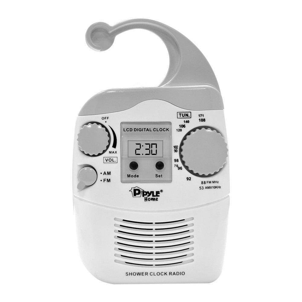 Radio réveil  Pyle PSR6  étanche - Blanc