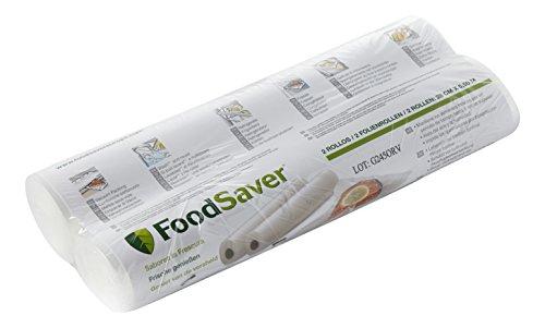 Pack de 2 Rouleaux de mise sous vide FoodSaver (28cm x 5.5m chaque)