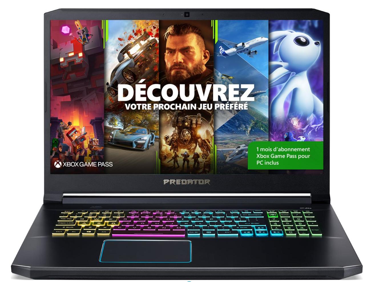 "PC Portable 17.3"" Acer Predator Helios 300 PH317-54-775H - Full HD, i7-10750H, 16 Go RAM, 512 Go, RTX 2060, Windows 10"