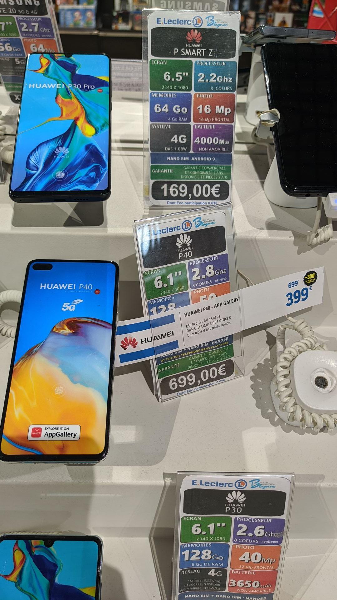 "Smartphone 6.1"" Huawei P40 - full HD+, Kirin 990, 8 Go de RAM, 128 Go, 5G, Sans services Google - Blagnac (31)"