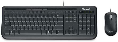 Ensemble Clavier + Souris filaire Microsoft Wired Desktop 600 - Noir