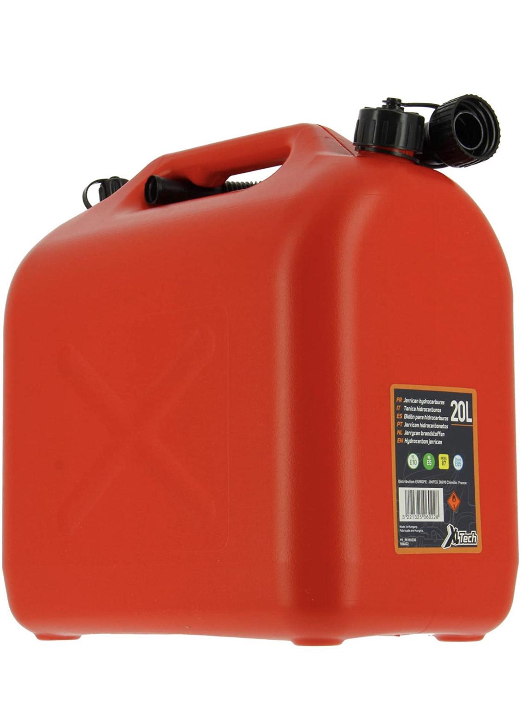 Jerrican à carburant Rouge XL Tech - 20L, Homologué
