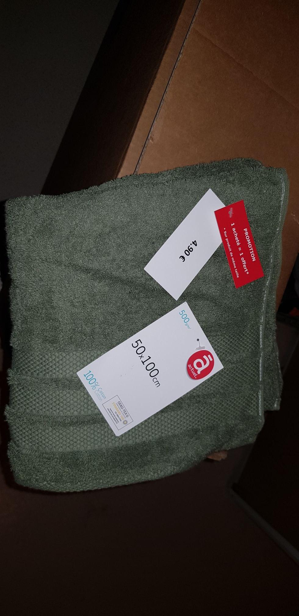 Lot de 2 serviettes de douche - 50 x 100 cm (autres tailles disponibles) - Val d'Europe (77)