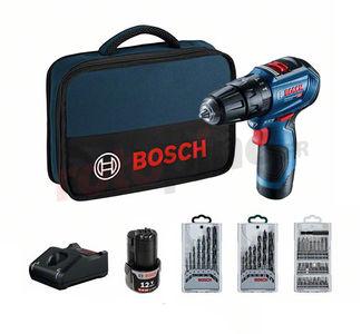 Perceuse-visseuse à percussion Bosch GSB 12V-30 avec accessoires (rotopino.fr)