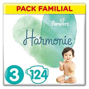 Pack Familial Pampers Couches Harmonie Taille 3 (6-10kg) - 124 Couches
