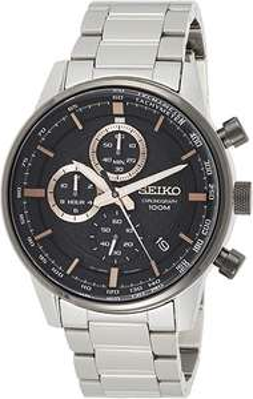 Montre quartz chronographe Seiko SSB331P1 - 43 mm, 10 ATM