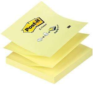 [Panier Plus] Lot de 12 recharges Post-It Z-notes 100 feuilles (7,6 x 7,6 cm) - Jaune