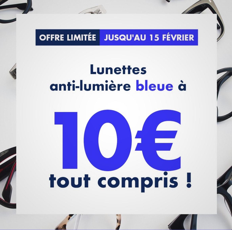 Sélection de Lunettes anti-lumière bleue à 10€ (lunettespourtous.com)