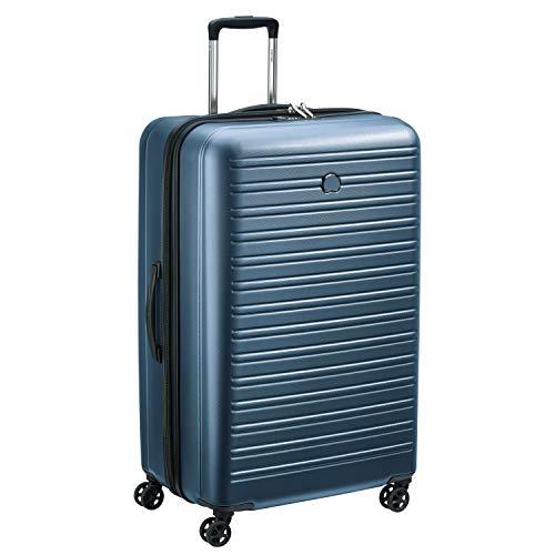 Valise rigide à double roues et serrure TSA intégrée Delsey Paris Segur 2.0 - 81cm, 108.9L, Bleu
