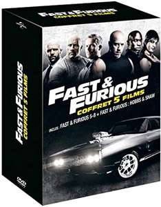 Coffret Blu-Ray Fast and Furious 5 films : Fast and Furious 5 à 8 + Hobbs and Shaw