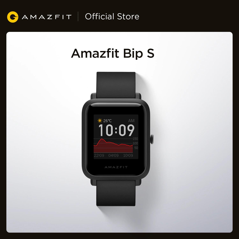 Montre connectée Amazfit Bip S – version internationale, GPS/Glonass intégré, 5 ATM