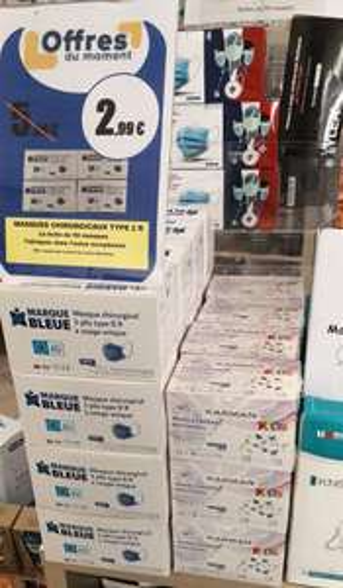 Boîte de 50 masques chirurgicaux type 2R normes EN14683 - Pharmacie About Servance-Miellin (70)