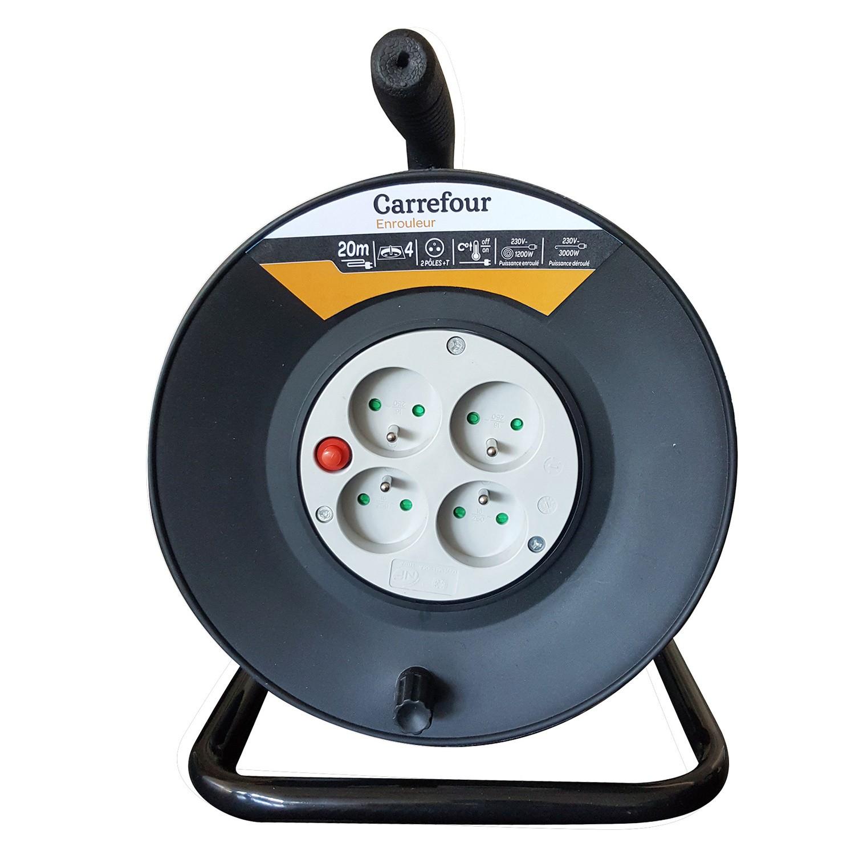 Enrouleur électrique - 20M, 3G1.5, 4X16A+T (Via 7.77€ sur Carte Fidélité)