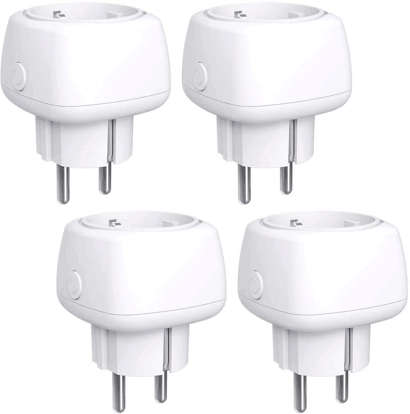 Lot de 4 Prises connectées WiFi Meross 10A - Compatibles Alexa, Google Home et SmartThings (Vendeur tiers)