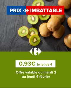 Lot de 4 kiwis verts FQC (Origine France) - Montesson (78)