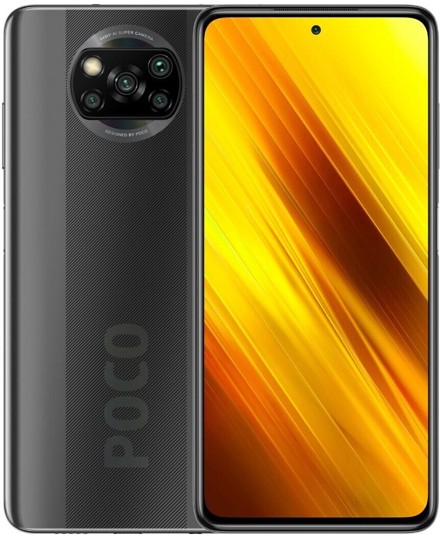 """Smartphone 6.67"""" Xiaomi Poco X3 NFC - full HD+, SnapDragon 732G, 6 Go de RAM, 64 Go, gris (via ODR 30 €)"""