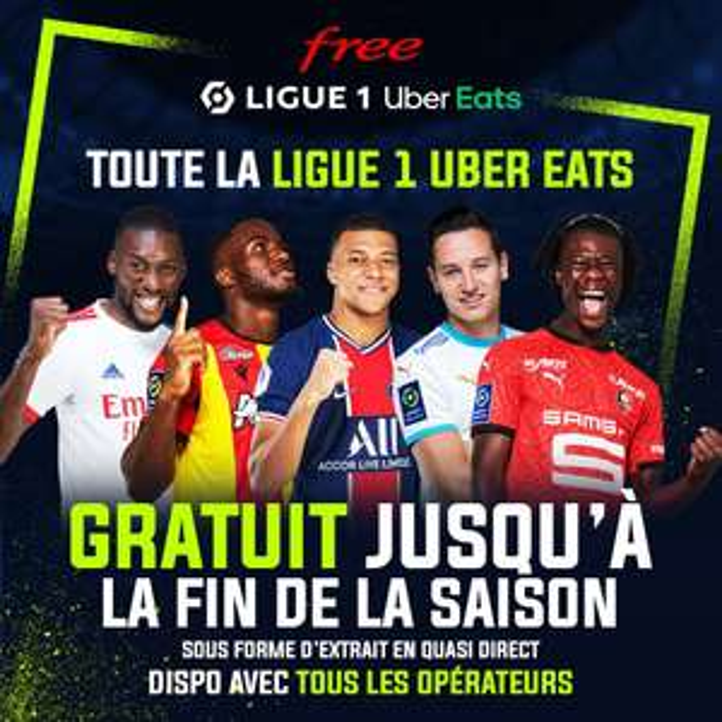 Accès Premium aux extraits et résumés vidéo des journées de Ligue 1 Uber Eats gratuit jusqu'à la fin de la saison (via l'application)