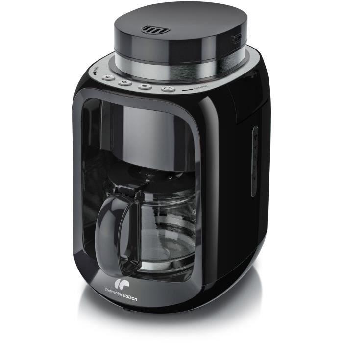 Cafetière filtre avec broyeur Continental Edison CECFBR600W