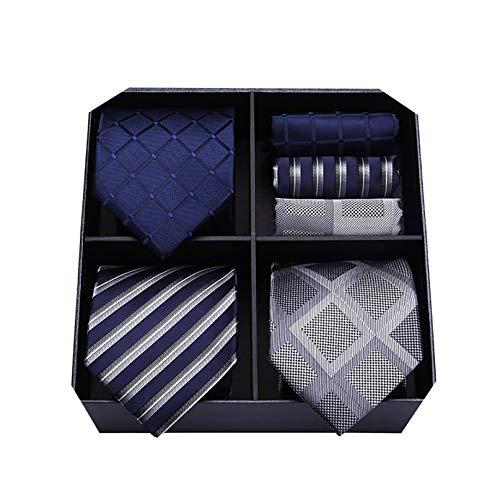 Lot de 3 cravates en soie Hisdern- 8.5cm (Vendeur tiers)