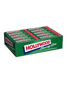 Lot de 20 paquets de 11 tablettes Hollywood Chewing-gum - Menthe ou Fraise