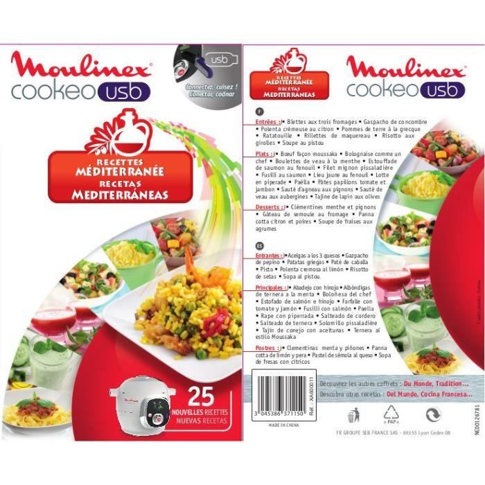 Clé USB pour Cookeo Moulinex - 25 nouvelles recettes Méditerranéennes