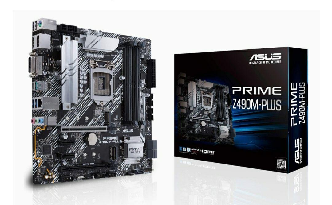 Carte mère Asus Prime Z490M-Plus - Micro-ATX, Socket 1200 (Via coupon)