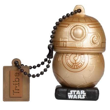 Clé USB Tribe 16 Go avec Chaînette Porte-clé - Star Wars Gold BB-8