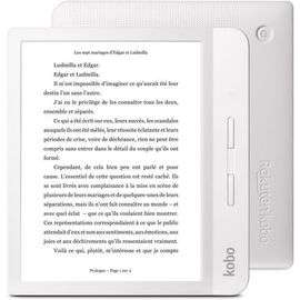 "Liseuse 7"" Kobo Libra H2O - E Ink Carta, 8 Go, Wi-Fi - Noir ou Blanc (+ 24€ en Rakuten points)"