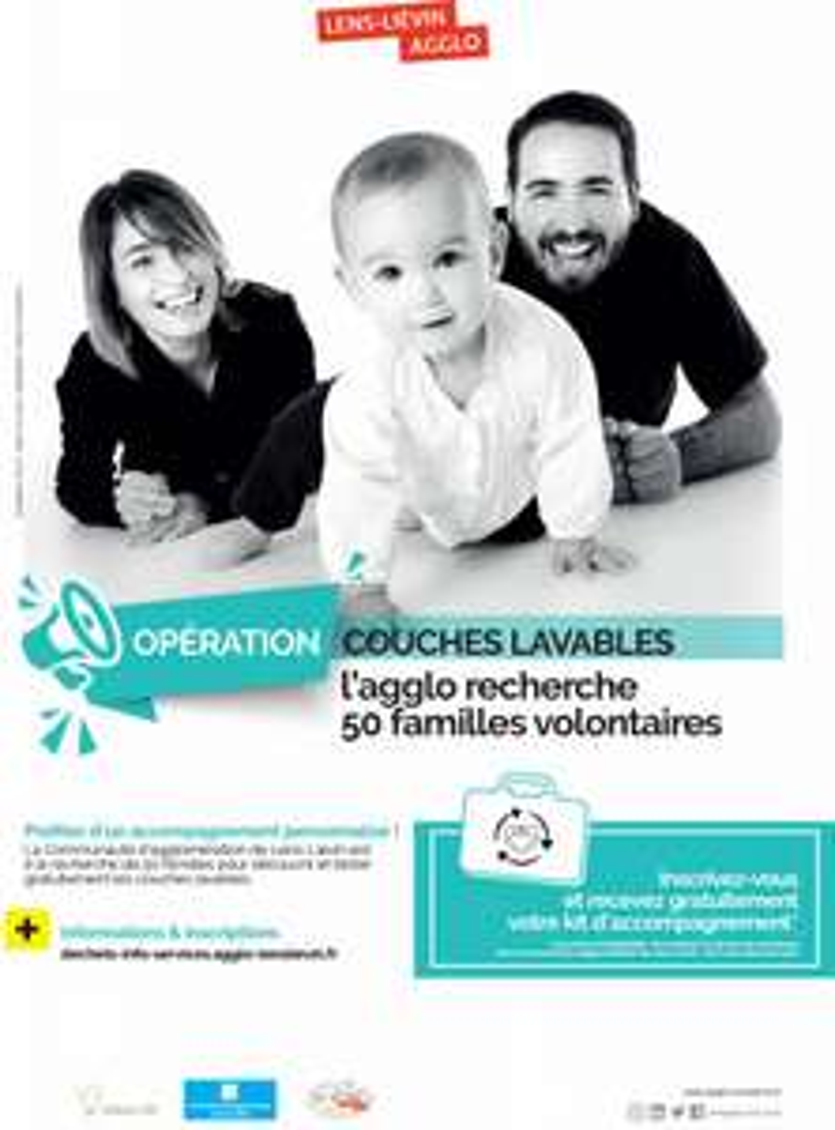 [Parents/Futurs Parentes] Kit d'accompagnement de couches lavables d'une valeur de 150€ gratuit (Lens-Liévin 62)
