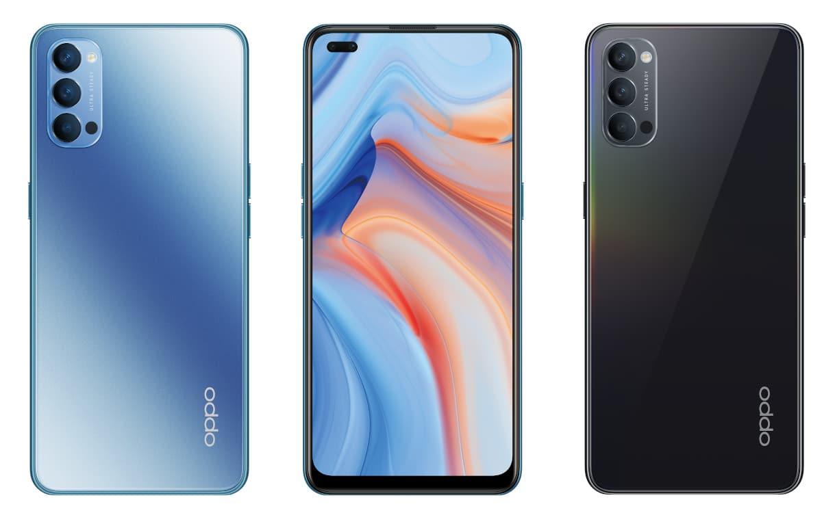"Smartphone 6,4"" OPPO Reno4 5G - FHD+ OLED, Snapdragon 765G, 8 Go RAM, 128 Go + Casque Bang & Olufsen Beoplay H4 offert (Via ODR de 100€)"