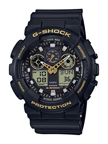 Montre Analogique-Digital Casio G-Shock GA-100GBX-1A9ER Homme avec Bracelet en Résine