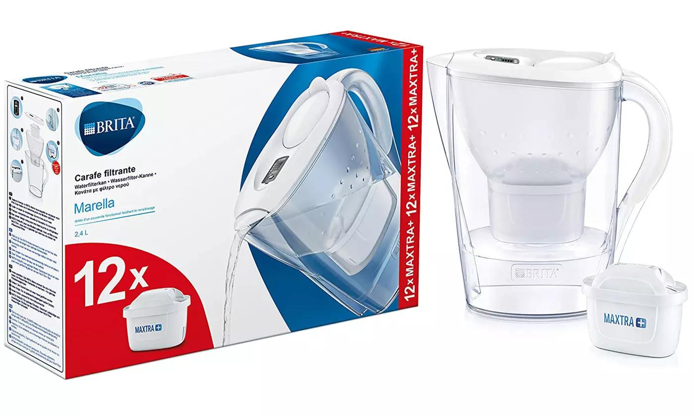 Carafe filtrante Maxtra (2.4 L) - avec 12 cartouches de filtration