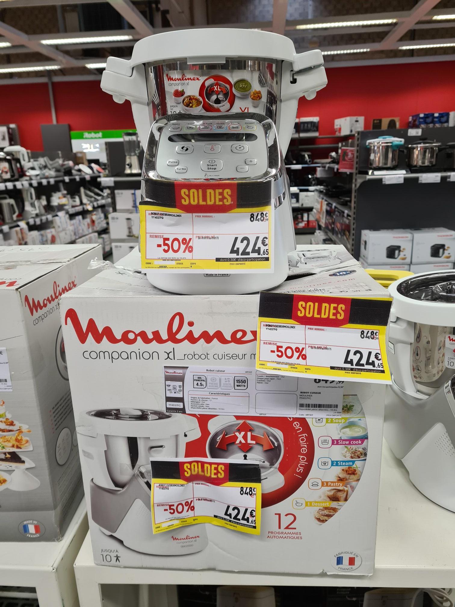 Robot de cuisine multifonction Moulinex Companion XL YY4037FG (4.5 L, 1550 W) - Villeneuve-Saint-Georges (94)