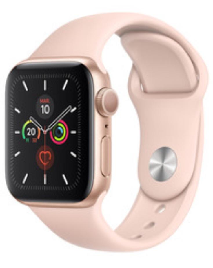 Montre connectée Apple Watch Series 5 Cellular - 40 mm, Rose ou Noir (44 mm Noir à 249€)