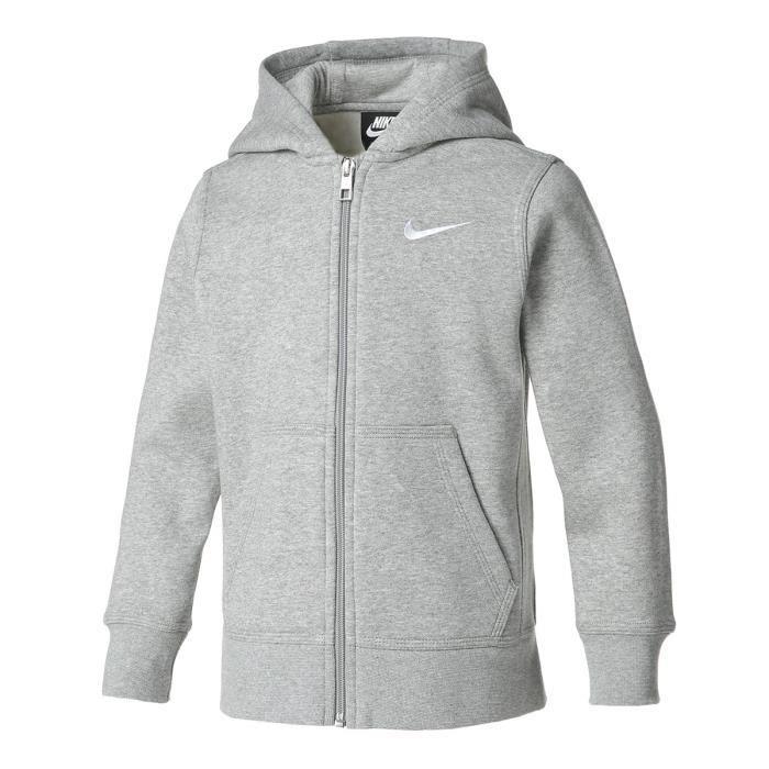 Sweat à capuche Nike YA76 pour Enfant - Gris - Taille 8 ans