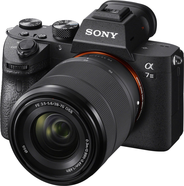 Kit appareil photo numérique hybride Sony Alpha 7 III (24.2 Mpix, Exmor R CMOS) + objectif 28-70 mm FE OSS (+ 75€ en Rakuten Points)