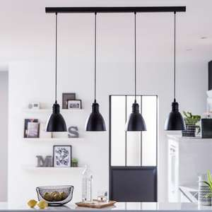 Suspension 4 ampoules style industriel Priddy