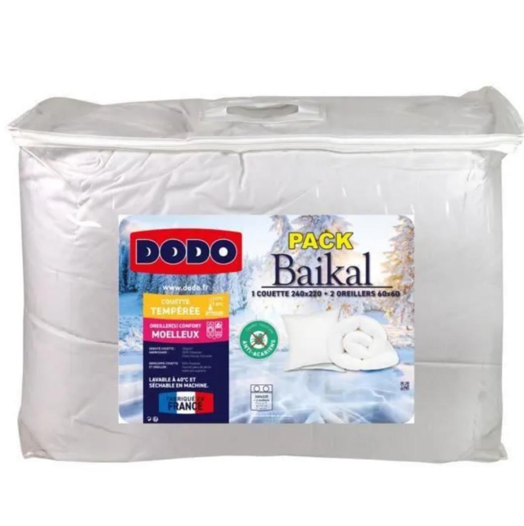 Pack couette (220 x 240 cm) + 2 oreillers (60 x 60 cm) Dodo Baical